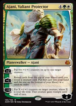 Ajani, Valiant Protector - Foil - Planeswalker Deck Exclusive