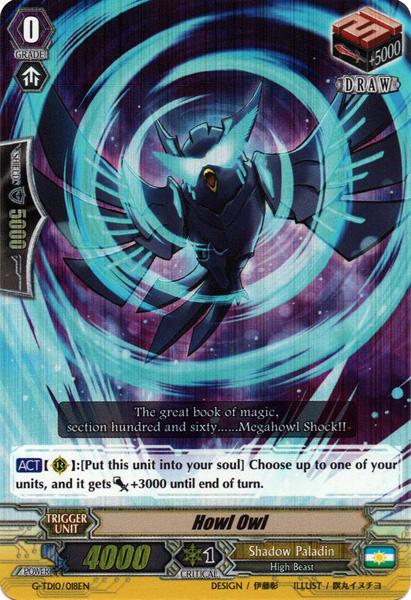 Howl Owl - G-TD10/018EN - RRR - Cardfight!! Vanguard