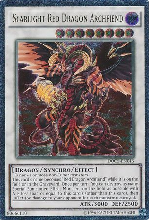 Scarlight Red Dragon Archfiend - DOCS-EN046 - Ultimate Rare - Unlimited Edition