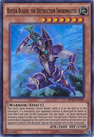 Buster Blader, the Destruction Swordmaster - MP16-EN189 - Ultra Rare - Unlimited Edition