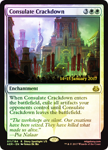 Consulate Crackdown (Aether Revolt Prerelease Foil)