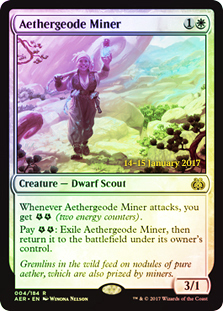 Aethergeode Miner (Aether Revolt Prerelease Foil)