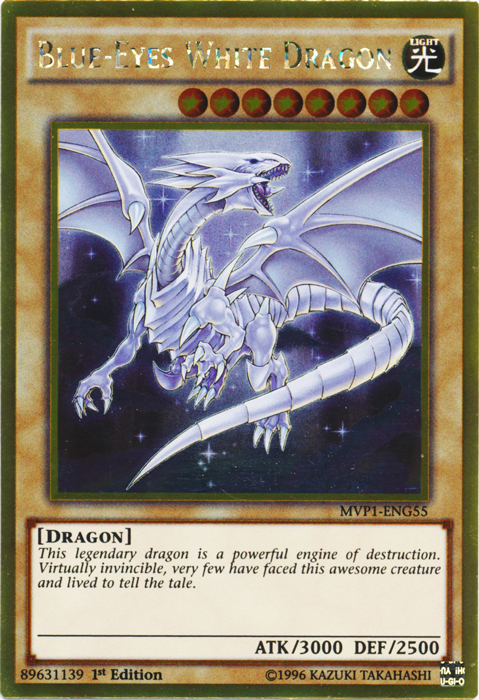 Blue-Eyes White Dragon - MVP1-ENG55 - Gold Rare - 1st Edition