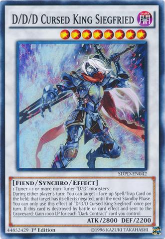 D/D/D Cursed King Siegfried - SDPD-EN042 - Super Rare - 1st Edition