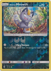 Alolan Meowth - 78/149 - Common - Reverse Holo