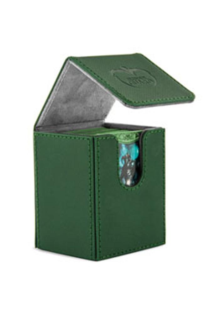 Ultimate Guard - Flip Deck Case 100+ Leatherette Standard Size Green