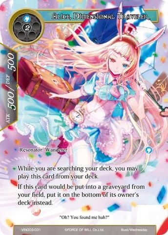 Alice, Dimensional Traveler - VIN003-031 - R