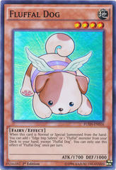 Fluffal Dog - FUEN-EN016 - Super Rare - 1st Edition on Channel Fireball
