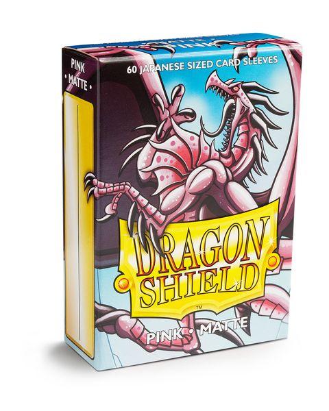 Dragon Shield Sleeves: Japanese Matte Pink (Box of 60)