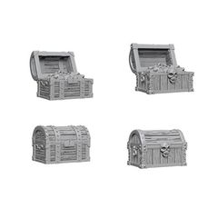 Pathfinder Battles Unpainted Minis - Chests