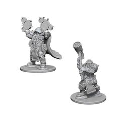 Nolzur`s Marvelous Unpainted Miniatures: W2 Dwarf Male Cleric