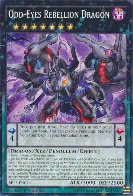 Odd-Eyes Rebellion Dragon - SP17-EN044 - Starfoil Rare - 1st Edition
