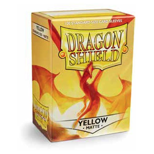 Dragon Shield Sleeves: Matte Yellow (Box Of 100)