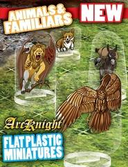Flat Plastic Miniatures: Animals & Familiars