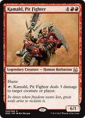 Kamahl, Pit Fighter on Channel Fireball