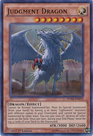 Judgment Dragon - DUSA-EN070 - Ultra Rare - 1st Edition