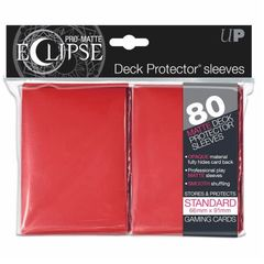 Ultra Pro - Eclipse Red Pro-Matte Standard Sleeves 80Ct