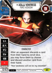 Asajj Ventress - Force Assassin (Sold with Matching Die)