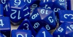 Opaque Dark Blue with Lt Blue Numbers - Set of 7