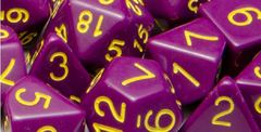 Opaque Dark Purple with Gold Numbers - Set of 7