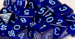 Translucent Dark Blue with Lt Blue Numbers - Set of 15