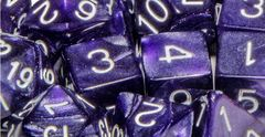 Marble Purple with White Numbers - Set of 7