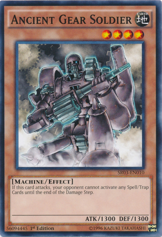 Ancient Gear Soldier - SR03-EN010 - Common - 1st Edition