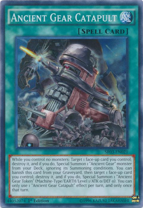 Ancient Gear Catapult - SR03-EN021 - Super Rare - 1st Edition