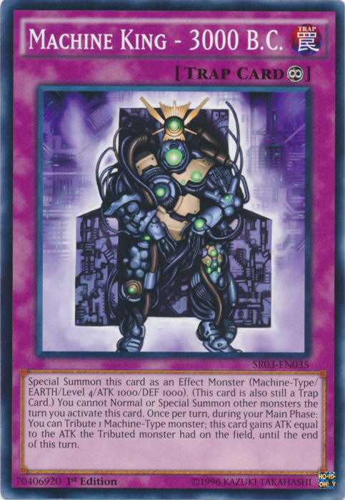 Machine King - 3000 B.C. - SR03-EN035 - Common - 1st Edition