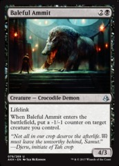 Baleful Ammit - Foil on Channel Fireball