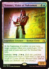 Temmet, Vizier of Naktamun - Foil - Prerelease Promo