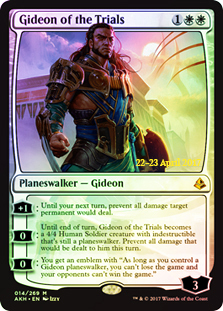 Gideon of the Trials (Amonkhet Prerelease Foil)