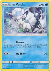 Alolan Vulpix - 21/145 - Common on Channel Fireball