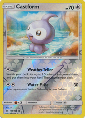 Castform - 105/145 - Common - Reverse Holo on Channel Fireball