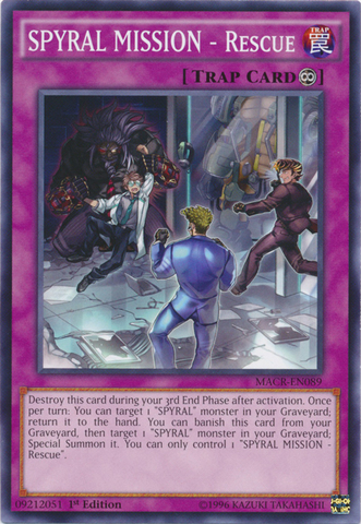 SPYRAL MISSION - Rescue - MACR-EN089 - Common - 1st Edition - Card