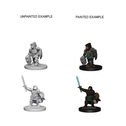 Nolzurs Marvelous Unpainted Miniatures - Dwarf Female Paladin