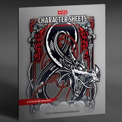 Dungeons And Dragons RPG - (Character Sheets And Folio) - 24 Sheets