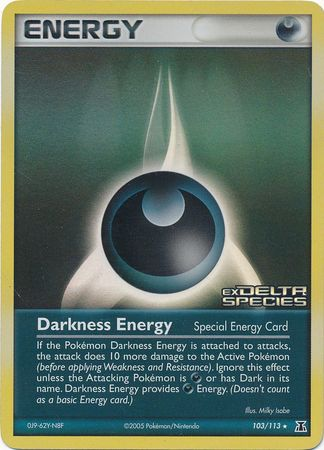Darkness Energy - 103/113 - Rare - Reverse Holo