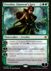 Freyalise, Llanowar's Fury - Foil on Channel Fireball