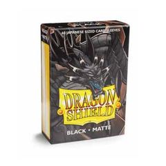 Dragon Shield Japanese Card Sleeves 60ct - Matte Black