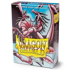 Dragon Shield - Matte Pink 60 Count Japanese size Sleeves