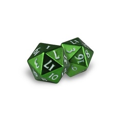 Ultra Pro - Dice Heavy Metal D20 2-Dice Green