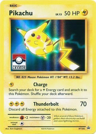 Pikachu - XY202 - Holo - 2017 League Promo Stamp Exclusive