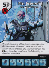 Mr. Freeze - Dr. Victor Fries (Die and Card Combo)