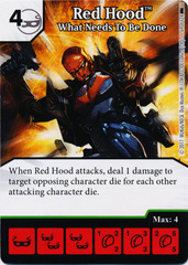 Red Hood - What Needs To Be Done (Die and Card Combo) - Foil