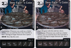 Two-Faces Coin - 50/50 (Die and Card Combo) - Foil