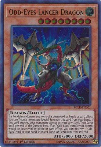 Odd Eyes Lancer Dragon Bllr En001 Ultra Rare 1st