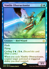Nimble Obstructionist - Foil - Prerelease Promo