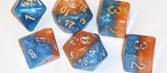 Gate Keeper Games - Halfsies Dice - Fire & Ice 7-Dice Set
