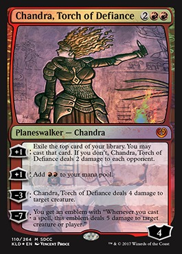 Chandra, Torch of Defiance - Foil - SDCC 2017 Exclusive